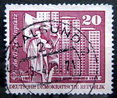 DDR: MiNr.1820 Lenin Square, Berlin 20pf 1973