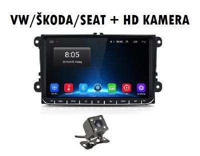 ✅ ANDROID 9.1 2din autorádio VW SKODA SEAT KAMEROU,  WIFI,  GPS, USB