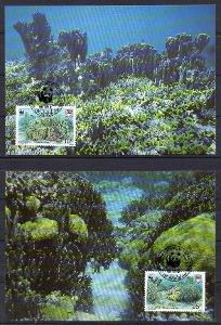 Tuvalu-Modrý korál WWF 1992* Mi.638-641/4 Maxikarty/ 10 €  / 2 skeny