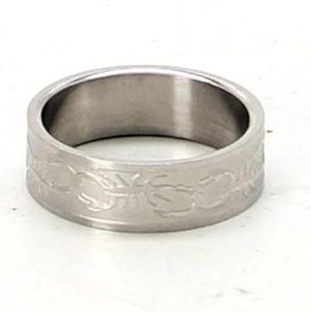 Ocelový prsten široký motiv štíra