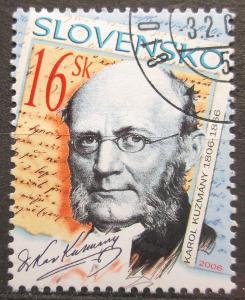 Slovensko 2006 Karol Kuzmány, spisovatel a teolog Mi# 528 1541
