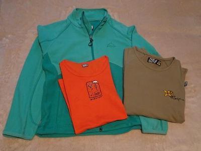 Fleecka a sportovní trička