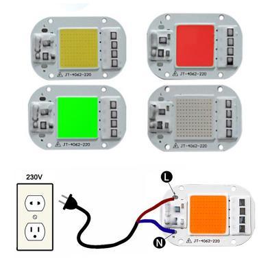 Výkonná 50W LED  220V  červená  IP65