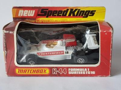 Matchbox K44 Speed Kings Formula 1 Surtees TS16 White