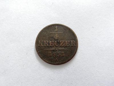 1/4 KREUZER 1851 A