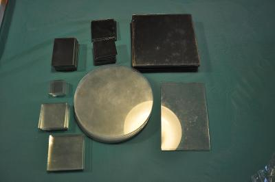 Výtvarné potřeby- sklo, sklíčka,zrcadlo, zrcátka