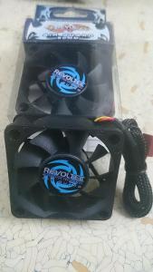 10ks 6cm PC FAN ventilátor chladič Revoltec GELID záruka aj.