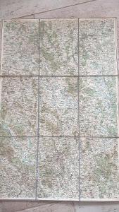 Stará vojenská generální mapa 1936-České Budějovice-Písek-Strakonice