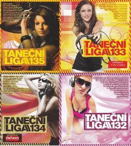 Taneční Liga 132 + 133 + 134 + 135 pack 4x NOVÉ CD super akce doprodej