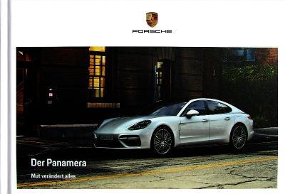 Porsche Panamera model 2018 prospekt 11 / 2017DE