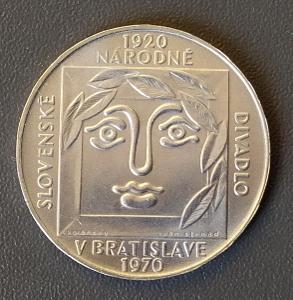 25 Kčs, 1970 - 50. výročí Slovenského nár. divadla