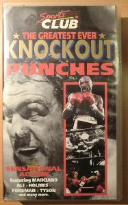 VHS The Greatest Ever - Knockout Punches, BOX fight