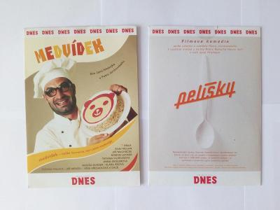 2ks DVD - Pelíšky a Medvídek (Nové!!!)