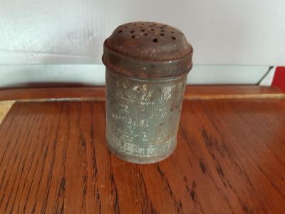 cukřenka hliník zašlá výška 9 cm