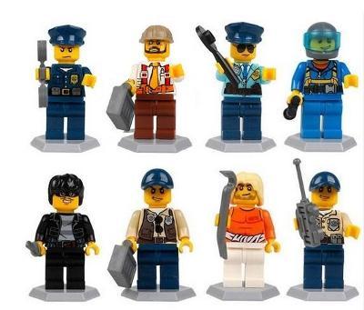 8 figurek zločinci a policajti doplněk pro lego