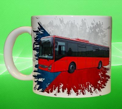 Hrnek hrneček autobus IVECO Crossway LE vlajka