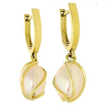 Zlaté naušnice s perlou