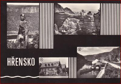 Hřensko * lodě, skály, okénková * Děčín (České Švýcarsko) * V1028