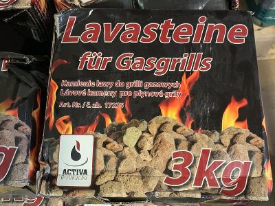 Lávové kameny Activa na grilování, 3kg sleva.