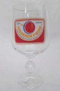 VÝVOZNÍ pivní číše, pohár, sklenice - ZLATÝ BAŽANT 12% Czechoslovakia