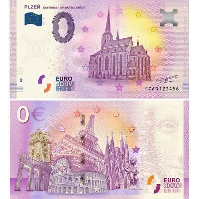 0 Euro Souvenir bankovka Plzeň, Eurobankovka