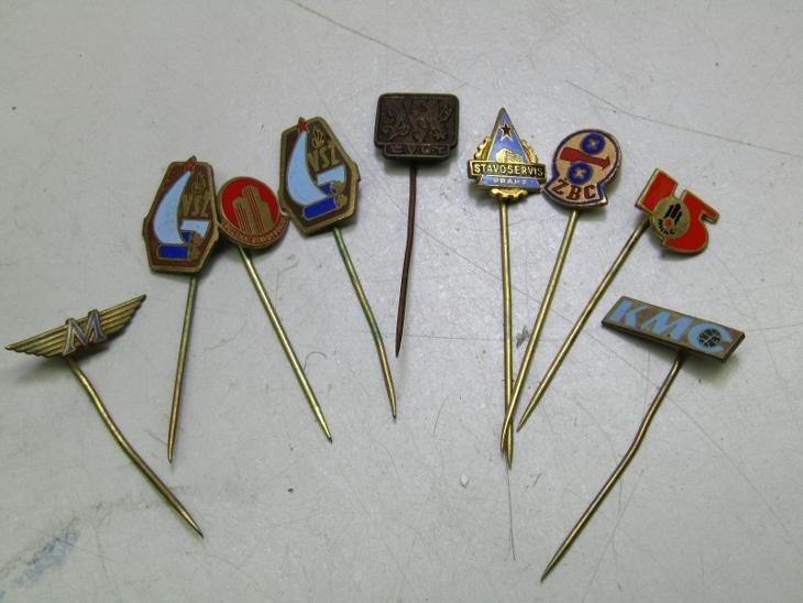 Staré smalt odznaky ČSSR firmy / různé - Faleristika