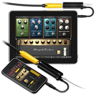 Mobilní kytarový předzesilovač a efektová jednotka pro iPhone/iPod