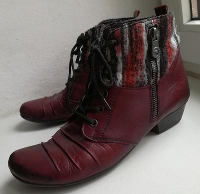 Kožené boty Remonte vel. 40