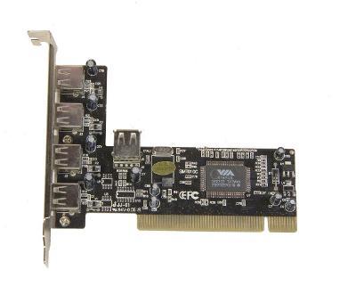 NOVÝ interní řadič VIA 5x USB do PCI slotu