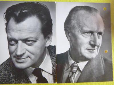 2 x č/b: M. RůŽEK F. SMOLÍK z druhé strany známky a razítka PRAGA 1968