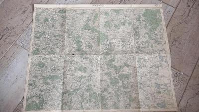 Stara vojenská mapa 1928-Prachatice-Bavorov-Netolice-Vodňany-Volyně