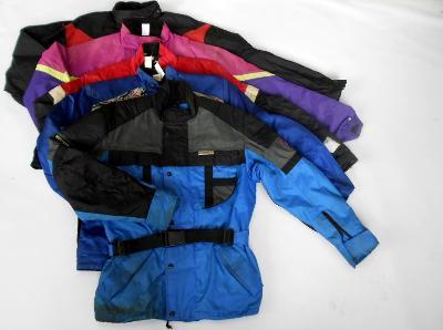 Textilní bundy mix 5ks- různé velikosti