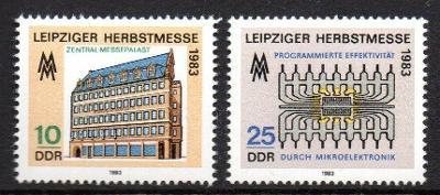 DDR 1983 Lipský veletrh Mi# 2822-23 1320
