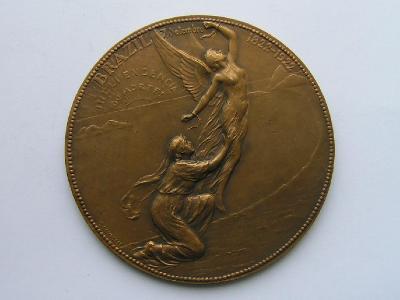 Maxi bronz.medaile 1922-1923, Mez. výst. nezávislosti v Riu de Janeiru