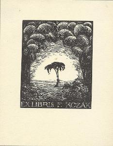 František Kobliha: Ex libris F. Kozák