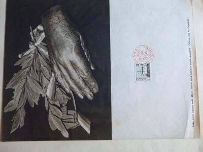 A4 Odlitek ruky Fr. Palackého RAZÍTKO 28.10.1968 50 LET ČESKOSLOVENSKA