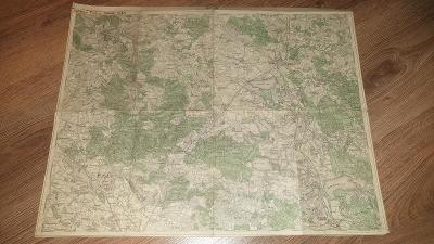 Stará vojenská mapa 1929-Třeboň-Týn n.Vlt-Lomnice n.Lužnicí-Hluboká