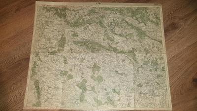 Stará vojenská mapa 1929-Jičín-Dvůr Králové-Lázně Bělohrad-Mlázovice-