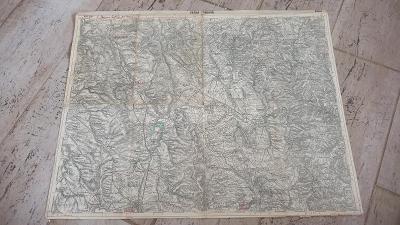 Stará vojenská mapa 1930-Česká Třebová-Lanškroun-Moravská Ťrebová-