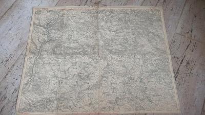 Stará vojenská mapa 1928-Mladá Boleslav-Sobotka-Kopidlno-Libaň-Loučeň-