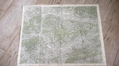 Stará vojenská mapa 1935-Vsetín-Karlovice-Val.Meziříčí-Rožnov-Hutinsko
