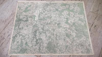 Stará vojenská mapa 1930-České Budějovice-Ledenice-Stropnice-Velešín