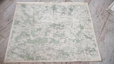 Stará vojenská mapa 1929-Pardubice-Hradec Králové-Přelouč-Chlumec n.Ci