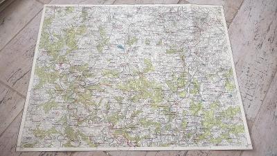 Vojenská protektorátní mapa 1940-Kutná Hora-Zásmuky-Stříbrná Skalice-