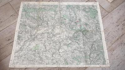 Stará vojenská mapa 1938-Náchod-Josefov-Dobruška-Opočno-Smiřice-Hronov