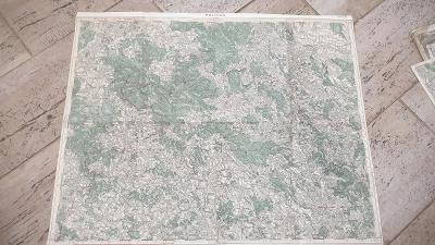Stará vojenská mapa 1934-Polička-Ždár-Bystřice n.Pernštýnem-Krucembur