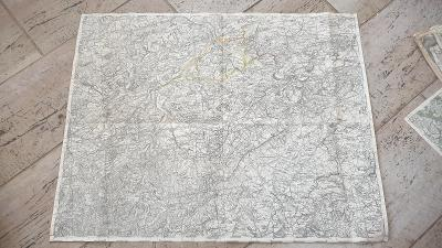 Stará vojenská mapa 1920-Beroun-Hořovice-Dobříš-Zdice-Hostomice-Málkov