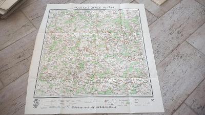 Vilímkovy mapy politických okresů-Politický okres Vlašim-1945