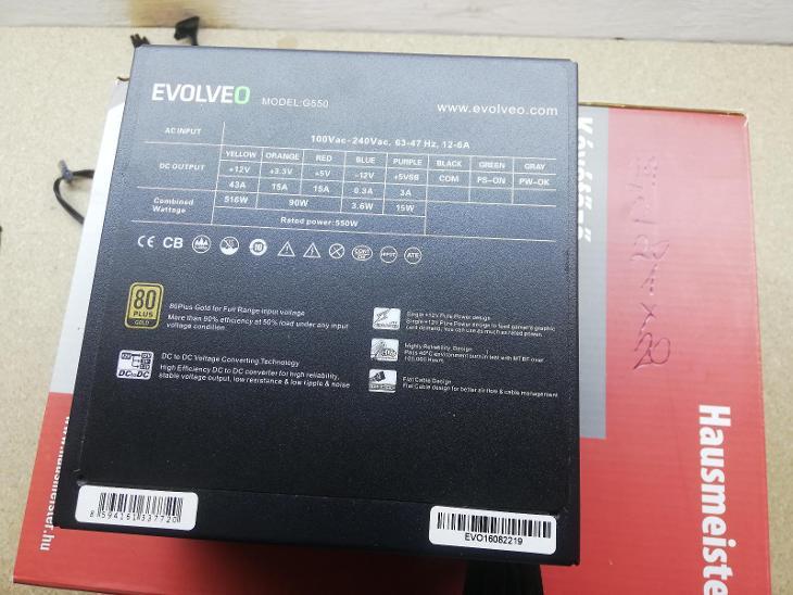 Evolveo G550 - 550W - PC komponenty
