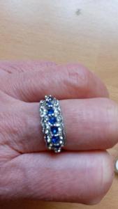 stříbrný prsten vel 8,